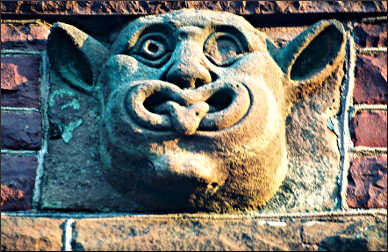 A gargoyle in Pipestone.