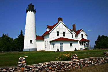 Point Iroquois Light near Sault Ste. Marie.