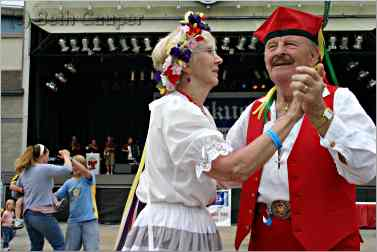 Polka Dancers in traditional outfits