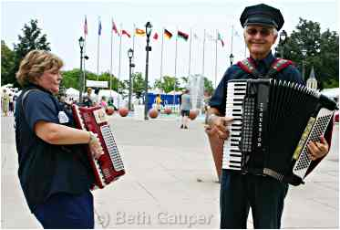 Polka police at Milwaukee's Polish Fest.