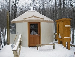 A yurt in the Porcupines.