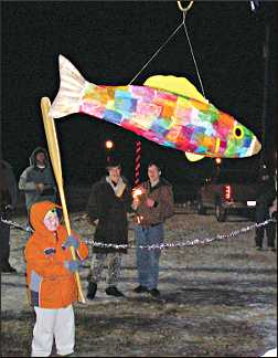 A pinata during Carp Fest.