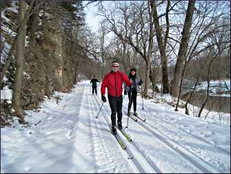 Skiers on the Harmony-Preston Valley trail.