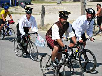 Costumed riders on RAGBRAI.