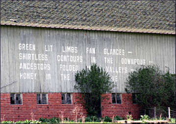 A poetry barn near Red Wing.
