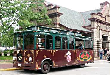 A trolley tour in Red Wing.