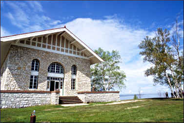 The boathouse on Rock Island State Park.