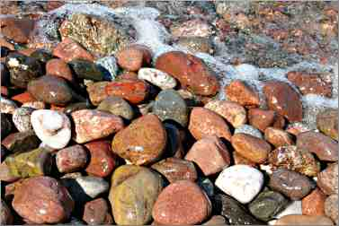stones on Lake Superior shore