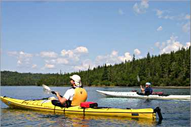 From Rossport, kayakers head to the lighthouse on Battle Isl