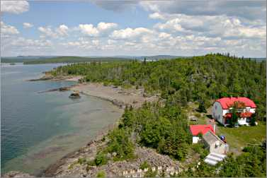 The view from Battle Island lighthouse.