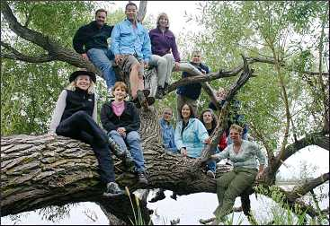 Rovers in a tree in Morris.
