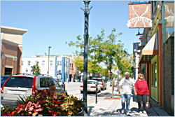 Shopping in downtown Sheboygan.