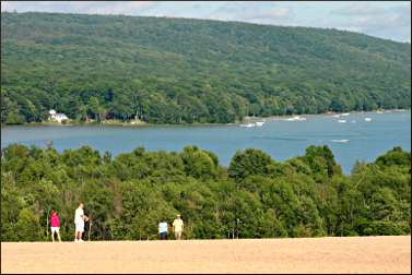 The Dune Climb in Sleeping Bear Dunes.