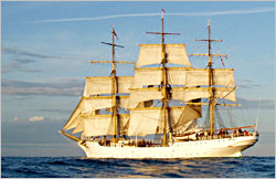 The Norwegian tall ship Sorlandet.