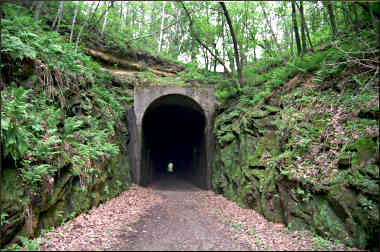 A tunnel on the Sparta-Elroy Trail.