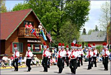 The Syttende Mai parade in Spring Grove.