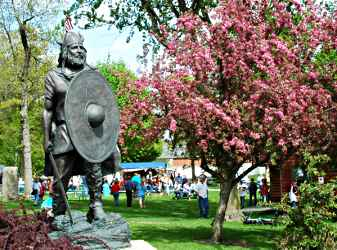 The Viking in Spring Grove's park.
