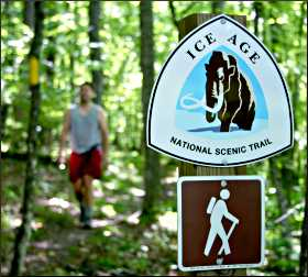 Walking the Ice Age trail.