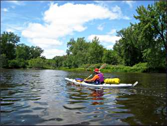 A kayaker on the St. Croix River.