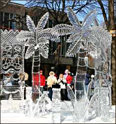 Ice sculptures in St. Paul.