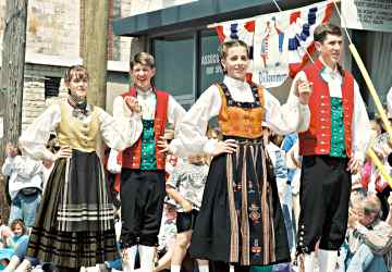 The famous Nordic dancers perform in Stoughton for Syttende