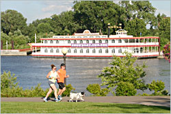 The Centennial Showboat on the Mississippi.