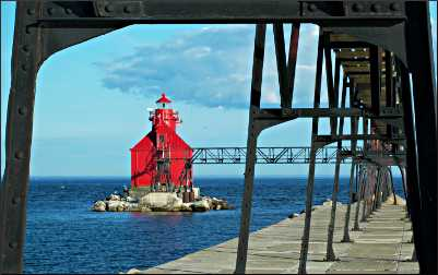 Big Red lighthouse in Sturgeon Bay.
