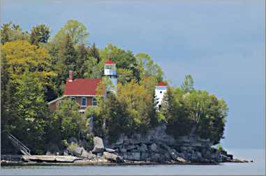 The 1883 lighthouse on Sherwood Point is one of three in Stu
