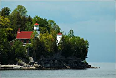 Sherwood Point lighthouse in Sturgeon Bay.