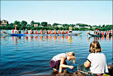 Dragon boat races in Superior.