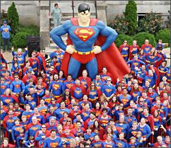 A Superman contest in Metropolis.