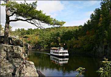 A paddlewheeler on the St. Croix.