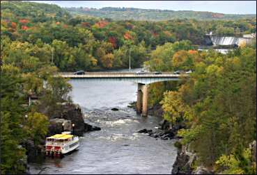 Taylors Falls on the St. Croix River.