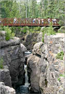 A bridge over the Temperance River.