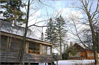 Mic Mac cabins in Tettegouche State Park.