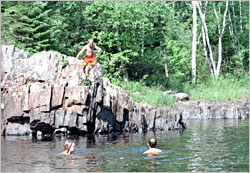 A swimming hole on the Baptism River.