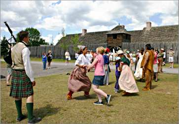 Engages dance at Fort William.