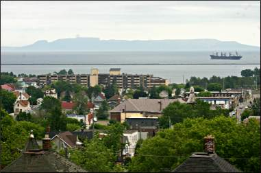 The Sleeping Giant from Thunder Bay.