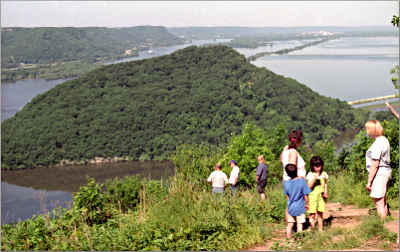 The view from Brady's Bluff in Trempealeau.
