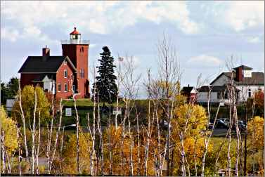 The Two Harbors lighthouse on Lake Superior.