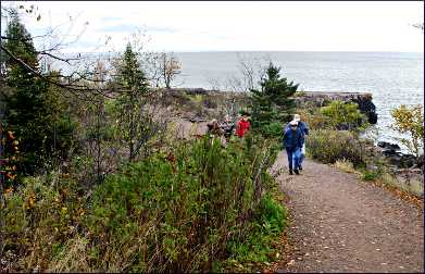 Hikers on the Sonju Trail in Two Harbors.