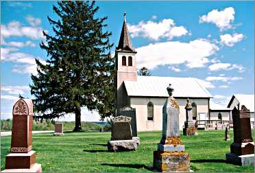A rural church in Vernon County.