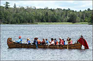 A North canoe in Voyageurs National Park.
