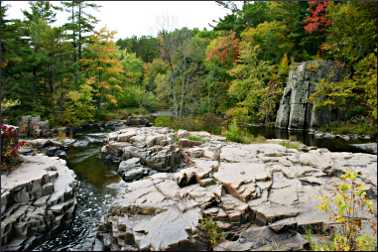 Dells of the Eau Claire County Park.