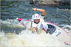 Jessica Fox on the Wausau whitewater course.