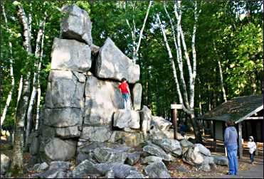 Rock mark the high point on Rib Mountain.
