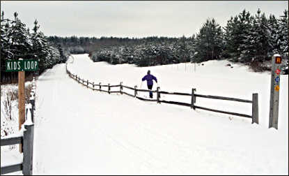 Skiing at Nine Mile County Forest.