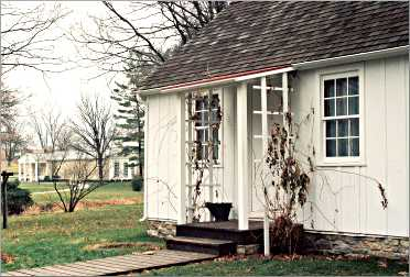 Herbert Hoover's birthplace in West Branch.