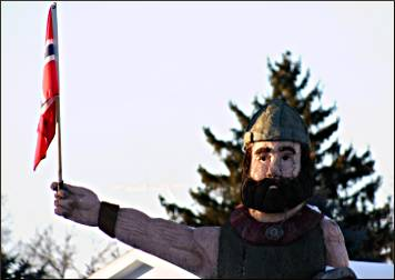 A Viking in Westby.