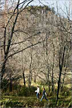 Hikers in Whitewater State Park.